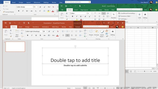 Microsoft Office 2016 Screenshot