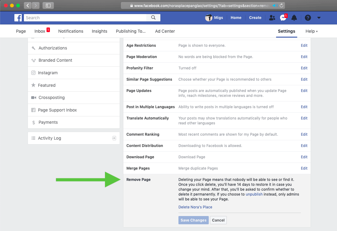 How to Delete a Facebook Business Page