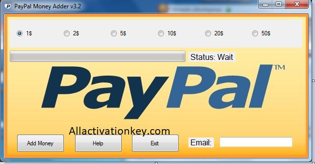 PayPal Money Adder 1.2.9 License Key