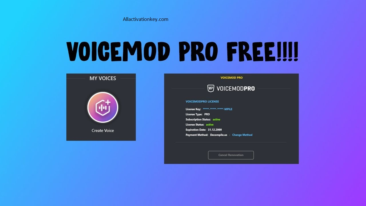 VoiceMod Pro Activation Key Plus Crack