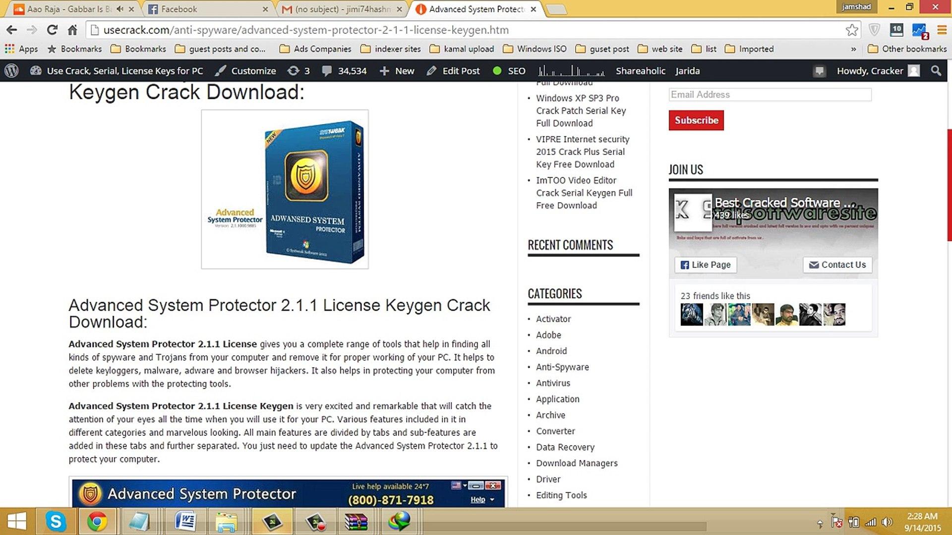 Advanced System Protector 2.4 Crack + License Key [2021] Download