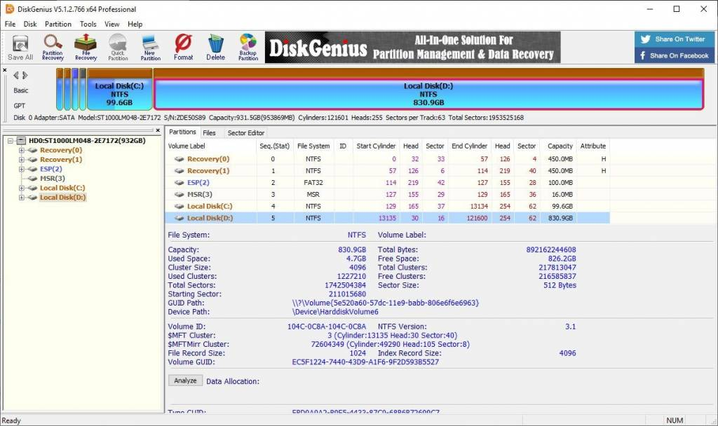 DiskGenius Professional 5.4.2 Crack + License Key [2021]