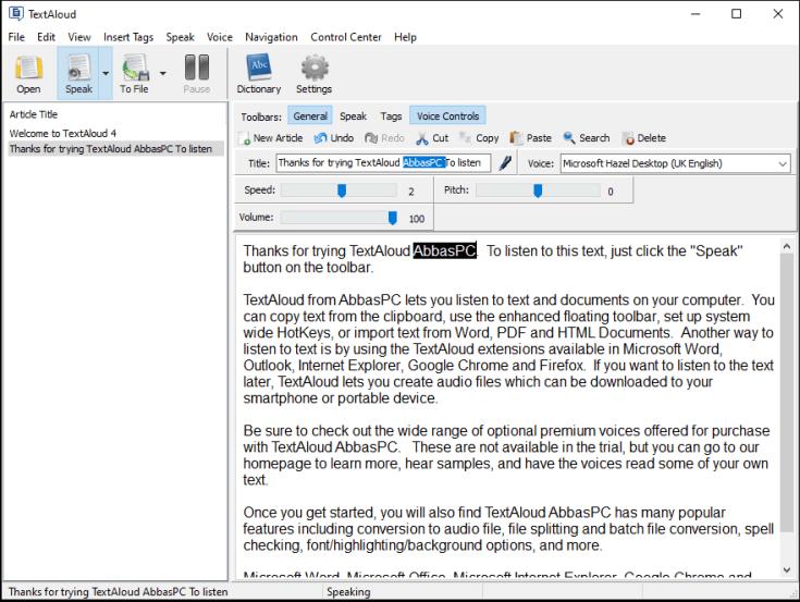 NextUp TextAloud 4.0.62 Crack Plus Activation Code [Latest] Free Download
