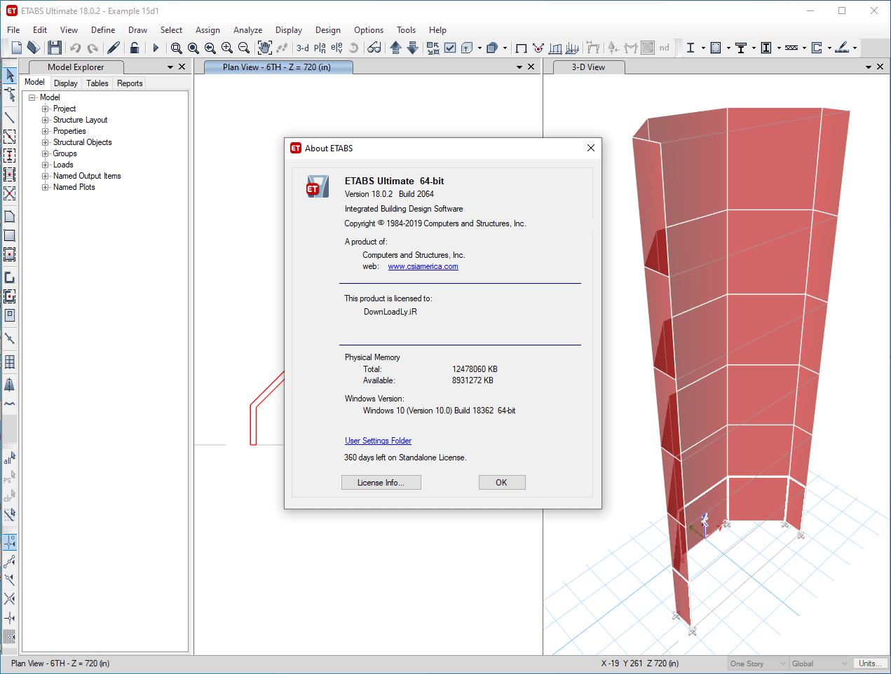 CSI Etabs Crack 19.2.0 + Keygen [Torrent] Free Download 2022