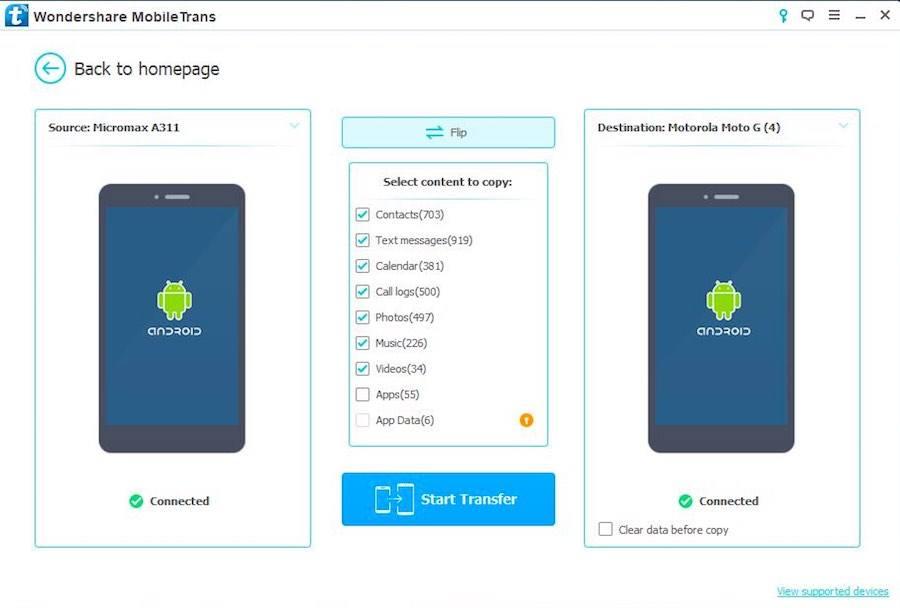 Wondershare Mobile Trans 8.1.5 Crack + Registration Code